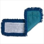 "Fringed Dry Microfiber Mop Pad 18"" With Velcro Backing- Qty: 18"