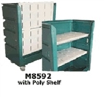 Maxi-Movers M8592 48 Cubic Ft. Turnabout Truck With Poly Shelves