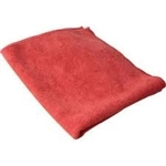 Microfiber Cleaning Cloths, Red, 16x16, Pack of 60