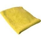 Microfiber Cleaning Cloths, Yellow, 16x16, Pack of 60