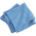 Microfiber Terry Cleaning Cloths 16x16 Blue- Pack of 48