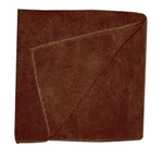 Microfiber Terry Cleaning Cloths 16x16 Brown- Pack of 48