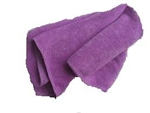 Microfiber Terry Cleaning Cloths 16x16 Purple- Pack of 48