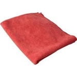 Microfiber Terry Cleaning Cloths 16x16 Red- Pack of 48