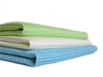 Microfiber Waffle Weave Cleaning Cloths Green 16x16- Pack of 48