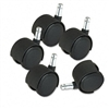 Master Caster Deluxe Duet Hard Wheel Tread Casters, Bla