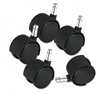 Master Caster Deluxe Duet Soft Wheel Tread Casters, Bla