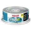Maxell CD-RW Discs, 700MB/80min, 4x, Spindle, Silver, 2