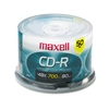 Maxell CD-R Discs, 700MB/80min, 48x, Spindle, Silver, 5