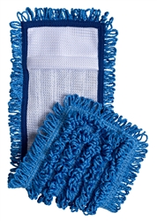 Blue Microfiber Loop Mop Pad with Mesh Backing, MESH-BLU