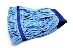 Microfiber Tube Mop Head, Large 16 oz, Blue, MF-BLU-LG