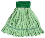 Microfiber Tube Mop Head, Large, 14.2 oz, GREEN,  MF-GRE-LG