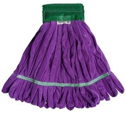 Microfiber Tube Mop Head, Medium, 14 oz, Purple