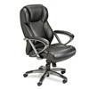 Mayline 300 Series Mid-Back Swivel/Tilt Chair, Black Le