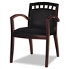 Mayline Mercado Series Arch-Back Wood Guest Chair, Maho