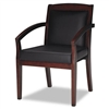 Mayline Mercado Series Wood Guest Chair, Mahogany Finis