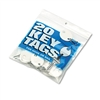 "MMF Industries Snap-Hook Key Tags, Plastic, 1 1/4""h, Wh"