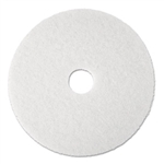 3M Super Polish Floor Pad 4100, 20, White, 5 Pads/Carton # MMM08484
