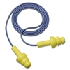 Aearo Peltor UltraFit Ear Plugs, Corded, Premolded, Yel