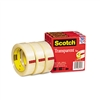 Scotch Transparent Tape 600-72-3PK, 1 x 2592, 3 Core