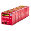 Scotch Transparent Glossy Tape, 3/4 x 1000, 1 Core,