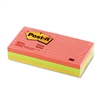 Post-it Neon Color Notes, 3 x 3, Neon Colors, 6 100-She