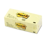 Post-it Original Notes, 1-1/2 x 2, Canary Yellow, 12 10