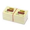 Post-it Super Sticky Notes, 3 x 3, Canary Yellow, 12 90
