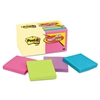 Post-it Note Bonus Pack Pads, 3 x 3, Canary Yellow/Ast.