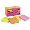Post-it 3 x 3, Five Neon Colors, 14 100-Sheet Pads/Pack