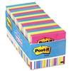 Post-it Notes Cabinet Pack, 3 x 3, Ast. Bright Colors,
