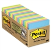 Post-it Recycled Notes, 3 x 3, Pastel, 24 75-Sheet Pads