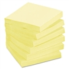 Post-it Recycled Notes, 3 x 3, Canary Yellow, 12 100-Sh