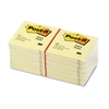Post-it Original Notes, 3 x 3, Canary Yellow, 12 100-Sh