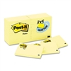 Post-it 3 x 5, Canary Yellow, 24 90-Sheet Pads/Pack # M