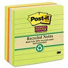 Post-it Nature's Hues Super Sticky Notes, Lined, 4 x 4,