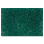 3M Commercial Heavy-Duty Scouring Pad, Green, 6 x 9, 12/Pack # MMM86