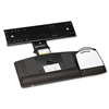 3M Positive Locking Keyboard Tray, 19-1/2 x 10-1/2, Bla