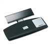 3M Knob Adjust Keyboard Tray, 25-1/2 x 11-1/2, Black #