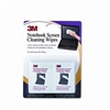 3M Notebook Screen Cleaning Wet Wipes, Cloth, 7 x 4, Wh