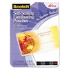 Scotch Self-Sealing Laminating Pouches, 9.6 mils, 2-7/1