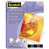 Scotch Self-Sealing Laminating Sheets, 9.6 mils, 8-1/2