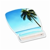 3M Gel Mouse Pad w/Wrist Rest, Nonskid Plastic Base, 6-