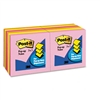 Post-it Pop-Up Refills, 3 x 3, Five Neon Colors, 12 100