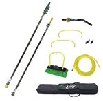 Unger HiFlo nLite Carbon Fiber Water Fed Window Cleaning Pole Kit, HiMod 33'