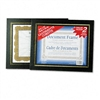 Nu-Dell Leatherette Document Frame, 8-1/2 x 11, Black,