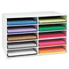 Pacon Classroom Construction Paper Storage, 10 Slots, 2