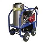 "Mercury PW-DOMINATORHOT4G Gas Hot Water High Pressure Washer, 11 HP Honda Gas Engine, 42"" Wand, 50- Foot Hose - with (4) 10"" Wheels"