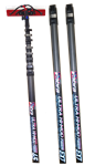 Pure Water Power Cobra 65 ft, 68 ft reach Kevlar, Hi-Mod Carbon Fiber Waterfed Pole, PWP-COBRA-65