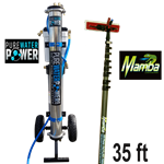 Pure Water Power 4-Stage RODI Cart & 45 ft Mamba Kevlar Hi-Mod CF Waterfed Pole Package, PWP-PD-2